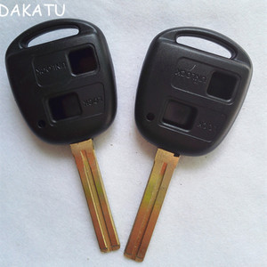 DAKATU For Toyota Avensis RAV4 Corolla 2 Button Key Shell Toy48 Short Blade Replacement Blank  Remote Key Case Fob Cover