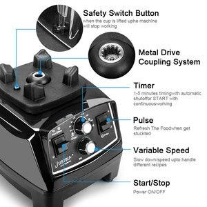 Image 3 - Minuterie sans BPA 3HP 2200W mélangeur Commercial mélangeur presse agrumes puissance robot culinaire Smoothie Bar fruits mélangeur électrique