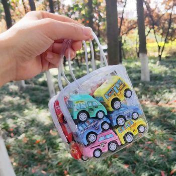 Landzo Hot 6Pcs Kids Toys Pull Back Car Set Childrens Mini Gift for Boys Girls