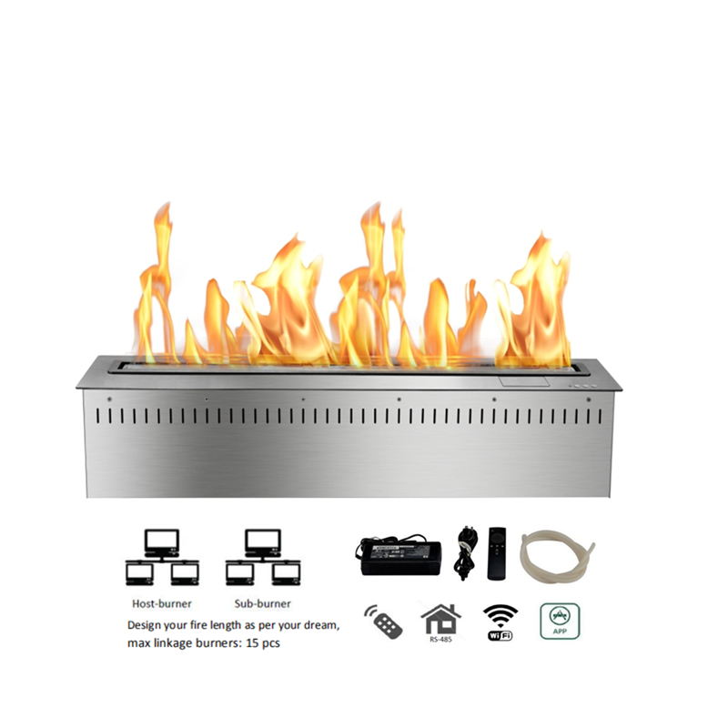 30 Inch Indoor Free Standing Fireplace Ethanol