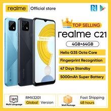 Realme C21 Smartphone Globale Version Helio G35 Octa Core 4GB RAM 64GB ROM 6.5