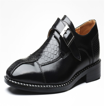 Zapatos De Hombre Oxford Brogue Shoes For Men Genuine Leather Formal Buckle Dress Shoes Man Pointed Toe Comfortable Shoes