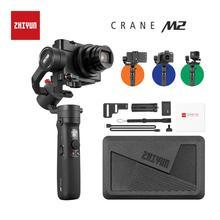 ZHIYUN 공식 크레인 M2 카메라 Gimbals 컴팩트 미러리스 액션 카메라 전화 스마트 폰 소니 핸드 헬드 안정제