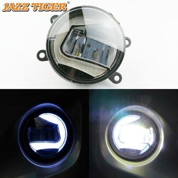 JAZZ TIGER 2-in-1 Functions LED Daytime Running Light Car LED Fog Lamp Projector Light For Nissan Pathfinder 2005 - 2015