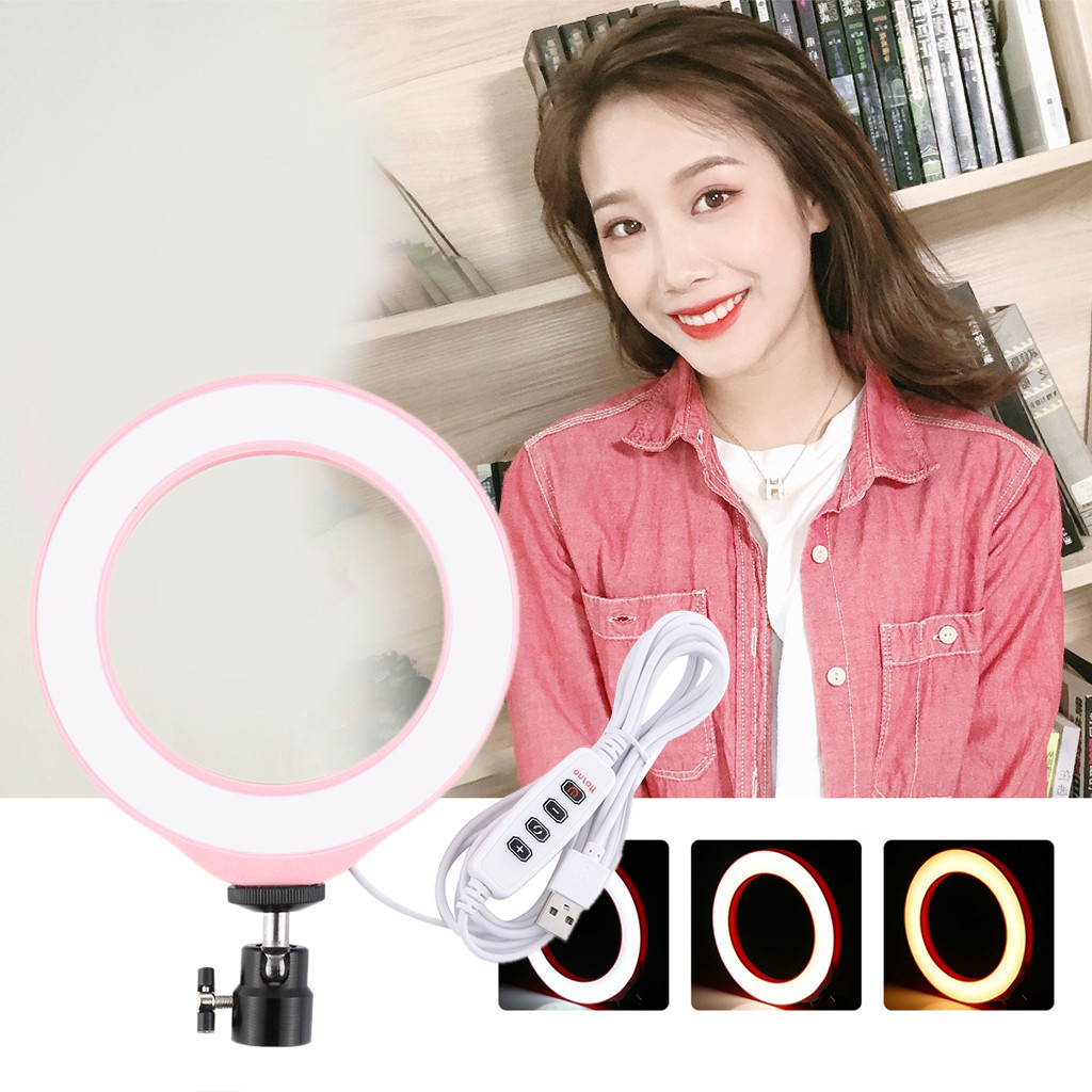 Ring Light 3 6 Inch Dimmable RGB Ring Light for Makeup Video Live Broadcast