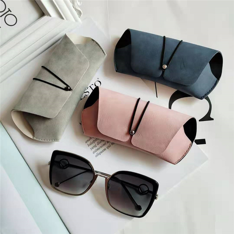 YUMOMO PU Leather Sunglasses Pouch Bag Eyeglasses Case Women Men Support Customized Logo Portable Glasses Cover Bags Box