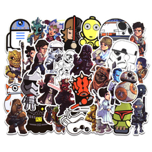 Nuevo 50 Uds Star Wars pegatinas para niños DIY Graffiti creativo pegatina para ordenador portátil guitarra Tabla de Skate de nevera equipaje coche Doodle calcomanía