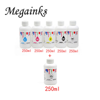 250 ml * 5 garrafas de tinta têxtil dtg para dx5 dx6 para epson 7400 7450 9400 9450 7800 9800 7880 9880 leito e impressora texitle