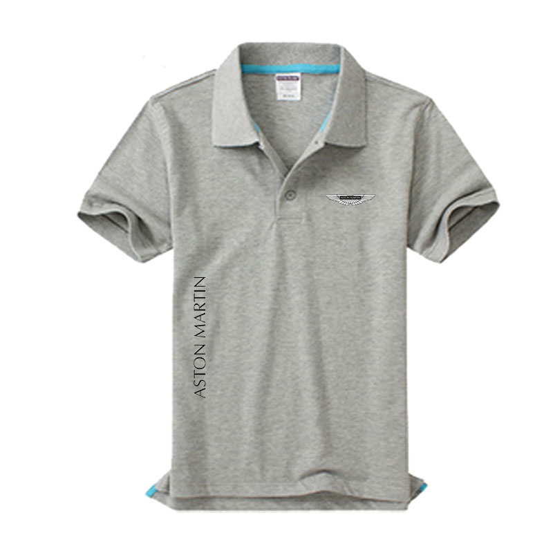 New Aston Martin Logo Men's Polo Shirt High Quality Men Cotton Short Sleeve Shirt Brands Jerseys