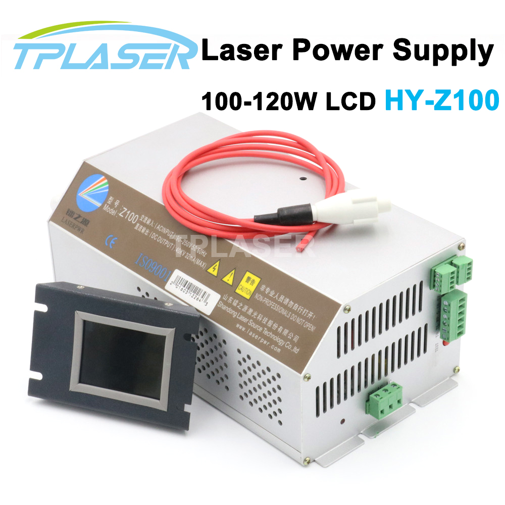 Z100 Intelligent Co2 Laser Power Supply For 100-120W Co2 Laser Tube With LCD PFC Function