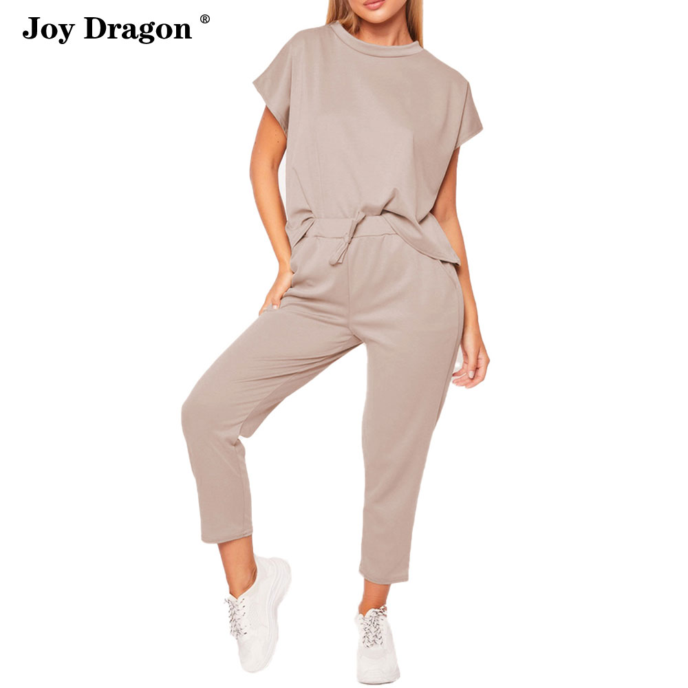 2 Piece Outfits for Women Pink Outfit Casual Trousers Suit Ropa De Mujer 2020 Streetwear Conjunto Femenino Summer Joggers Set
