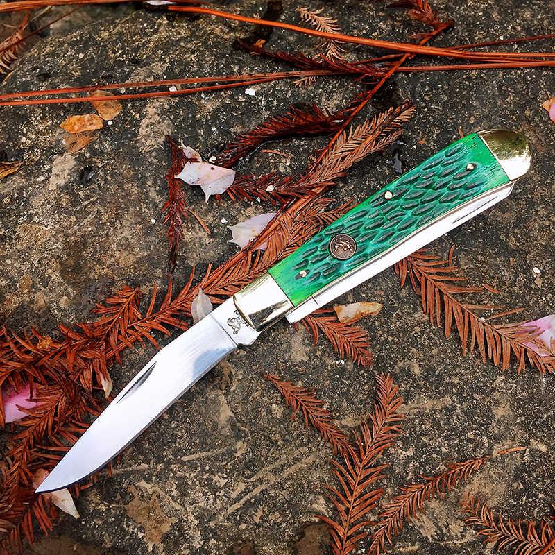 [Watchman W008] Slip Joint Multi-Blade Zakmes Moderne Tradtional Zakmessen Map Bone Materiaal Collectie