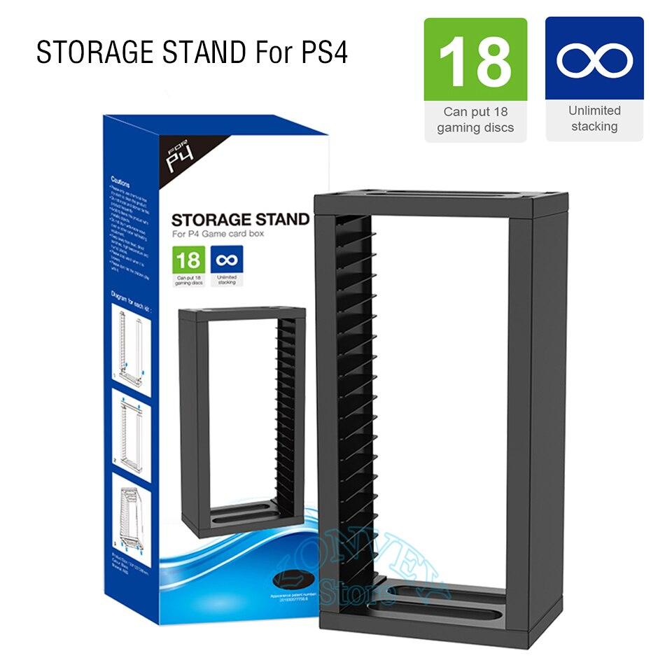Игровые диски PS4 Slim Pro, вертикальная подставка для хранения, игровые карты, держатель для Sony PlayStation 4 PS 4/Slim/Pro