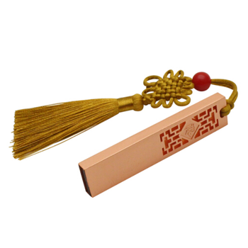 New Chinese style Red copper usb2.0 with tassel memory flash pendrive u disk with original packing