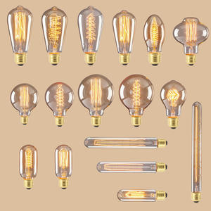 Incandescent Bulb Pendant-Lamp Filament Light Retro Industrial-Decor Spiral Edison E27 Vintage