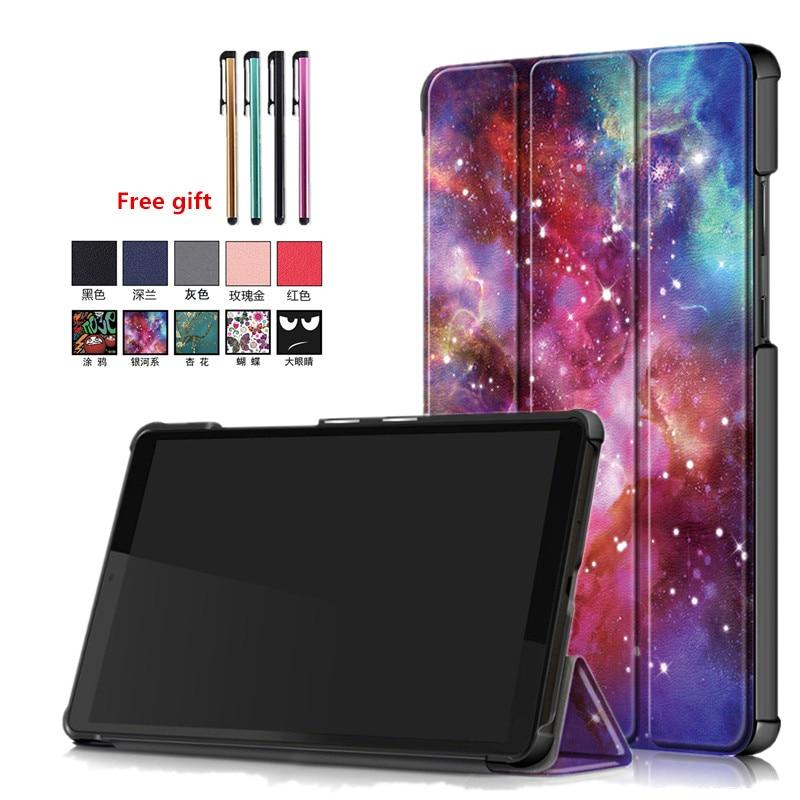 Сложенные втрое чехол для планшета Lenovo YOGA Tab M7 м 7 ТБ-7305F TB-7305i TB-7305X 7,0 ультра тонкий PU кожаный чехол для планшета Lenovo Tab M7