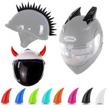 Мотоциклетная рога для шлема мотоциклетный шлем Дьявол Рога мотокросса полное лицо внедорожный шлем украшение шлем аксессуары