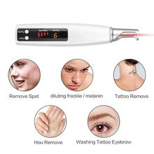 Red/Blue Ray Picosecond Pen USB Rechargeable Wireless Laser For Removing Tattoo Skin Tag Scar Freckle Mole Beauty