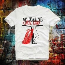 Los Distillers Coral Fang Rock Tee Top Vintage Unisex señoras camiseta marca B632 camiseta de moda