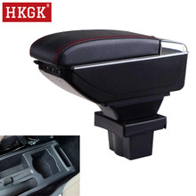 Accoudoir double couche rotatif en cuir PU, boîte de rangement pour Console centrale, cendrier USB, pour Skoda Yeti Octavia A5 MK2 2005 – 2012