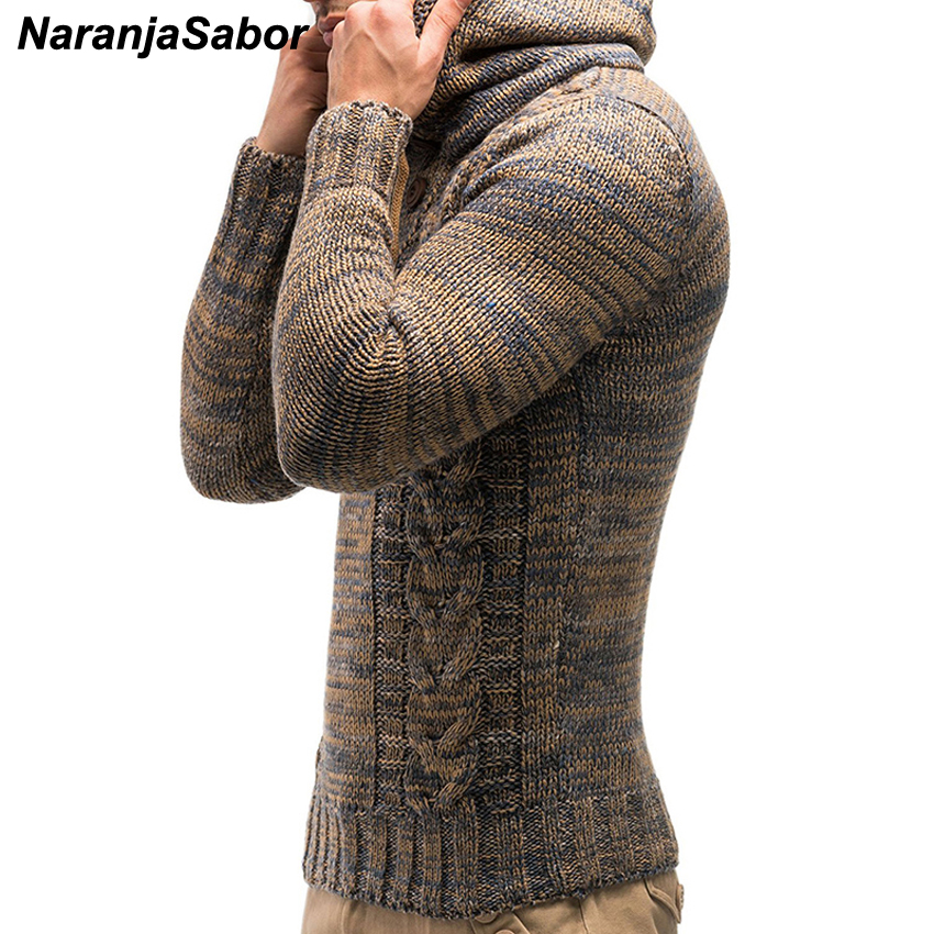 NaranjaSabor New Men's Hoodie 2020 Winter Men Warm Hooded Knitted Fashion Pullovers Sweatshirt Male Casual Brand Clothing N632 1