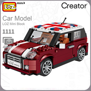 Image 4 - LOZ BRICKS MINI  Blocks City  Car Model Racing Car 2 In 1 Figurine Toys For child with collection and education value