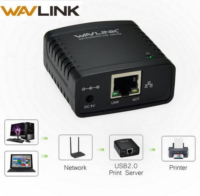 Wavlink USB 2.0 Netzwerk LRP USB Hub 100Mbps Teilen eine LAN Vernetzung Drucker Power Adapter für Windows EU /US/UK stecker