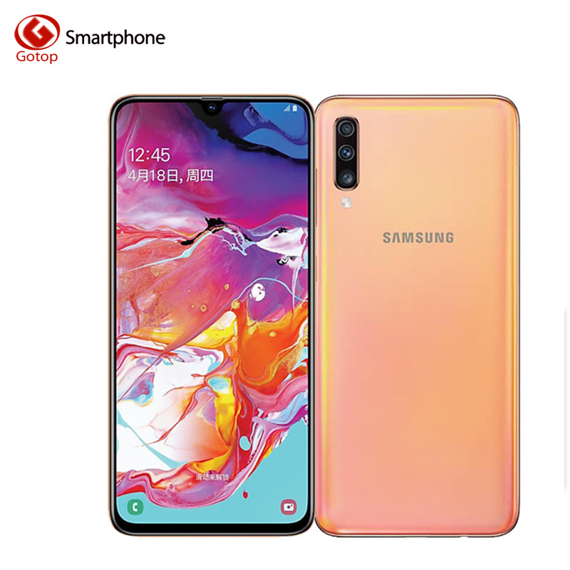 Samsung Galaxy A70 6.7 inch 20:9 Mobile Phone 6GB RAM 128GB ROM Octa Core 4500mAh 32MP Triple Camera Fast Charging Smartphone image