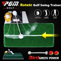 PGM Golf Swing Training Mat Trainer Golf Trainer Indoor Golf Swing Mat Exerciser Multi-function Golf Practice Aids 3 in 1
