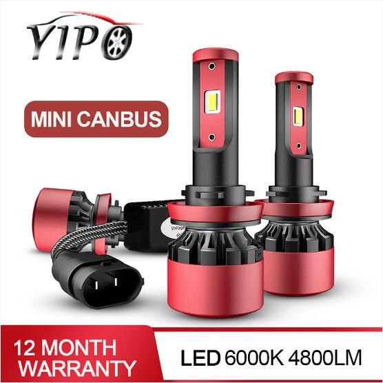 MINI CANBUS healight h4 led h11 h1 h3 h7 h11 9005 9006 hb3 hb4 csp chip auto styling lampada scheinwerfer 6000k led automotivo 2PCS