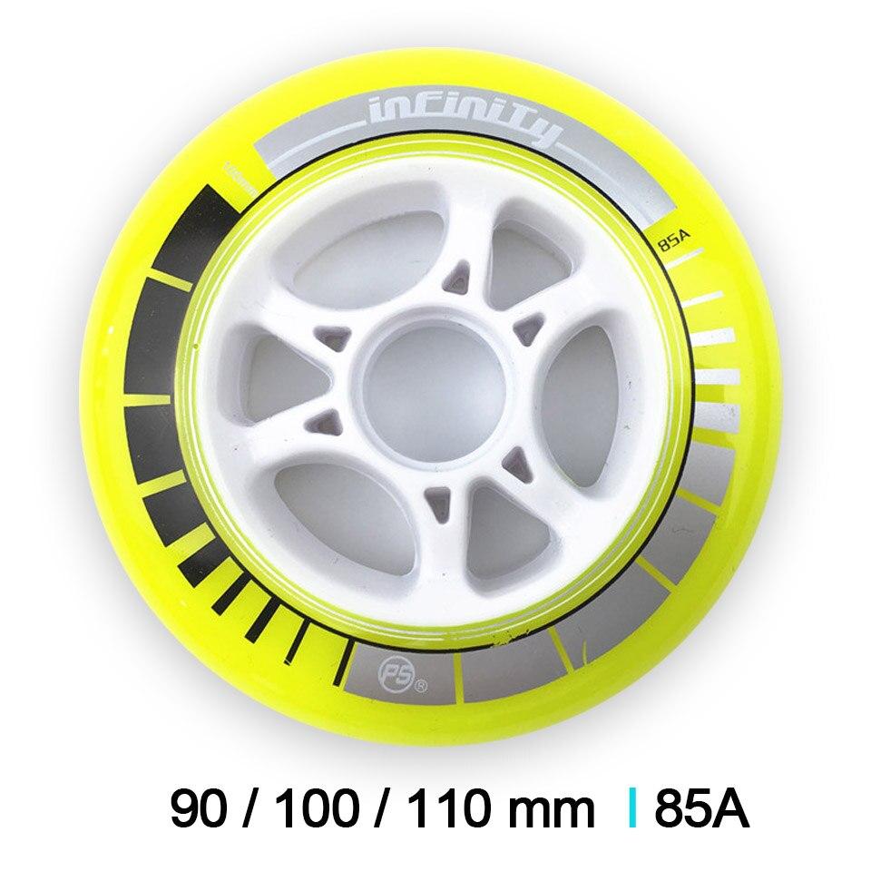 Power Slide PS Infinity Speed Skating Wheels 8 Pcs/lot High Response Roller Skates Speeding Racing Wheel 90mm 100mm 110mm
