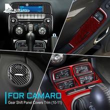AIRSPEEDคาร์บอนไฟเบอร์สำหรับChevrolet Camaro 2010 2011อุปกรณ์เสริมAutoพิเศษภายในTrimสติกเกอร์ตกแต่งรถจัดแต่งทรงผม