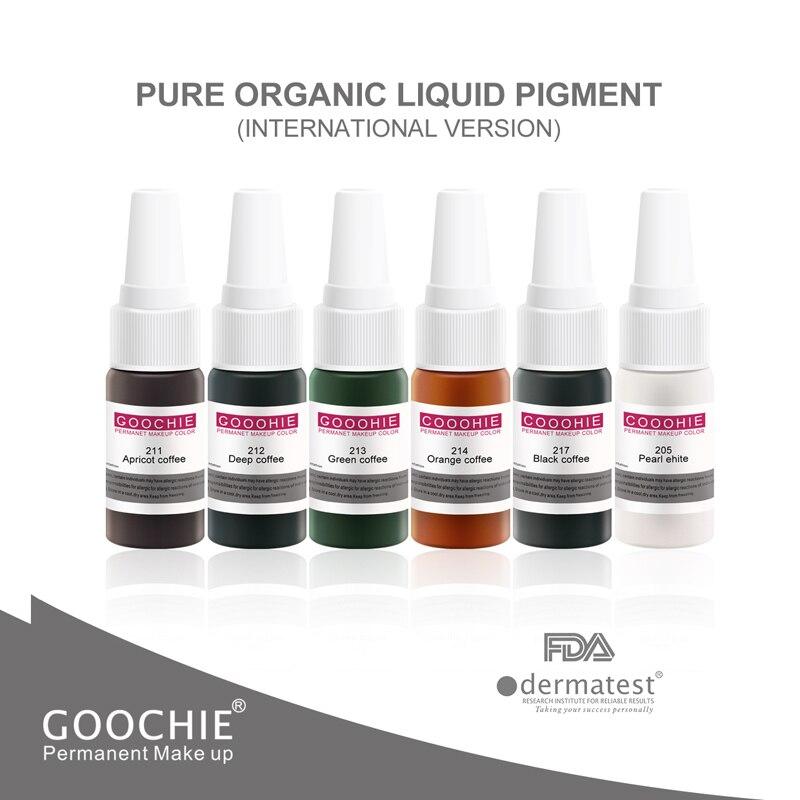 1 pces pigmento líquido orgânico puro pigmento permanente maquiagem goochie microblading sobrancelha lábio tatuagem tinta microshading pigmento