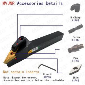 Image 5 - MZG 20mm 25mm MVJNR1616K16 obróbka nudne frez do cięcia metalu węglika uchwyt na narzędzia tokarskie zewnętrzne tokarka CNC Arbor