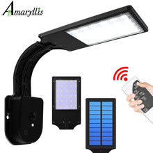 Solar Lights With 4 Working Modes Outdoor Solar Lamp with Remote Control IP65 Waterproof Lighting for Garden Wall Yard Garage