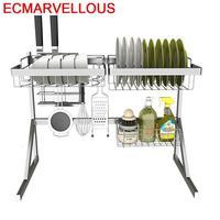 Cosinha Almacenaje Dish Drainer Accessories Especias Malzemeleri Stainless Steel Organizador Cocina Cuisine Mutfak Kitchen Rack