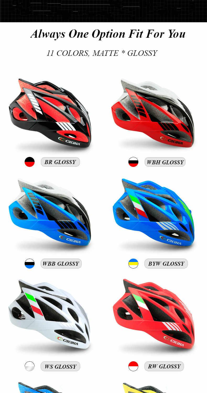 CIGNA radfahren helm mtb und rennrad super licht helm integrierte guß männer und frauen rennrad helme fahrrad ausrüstung