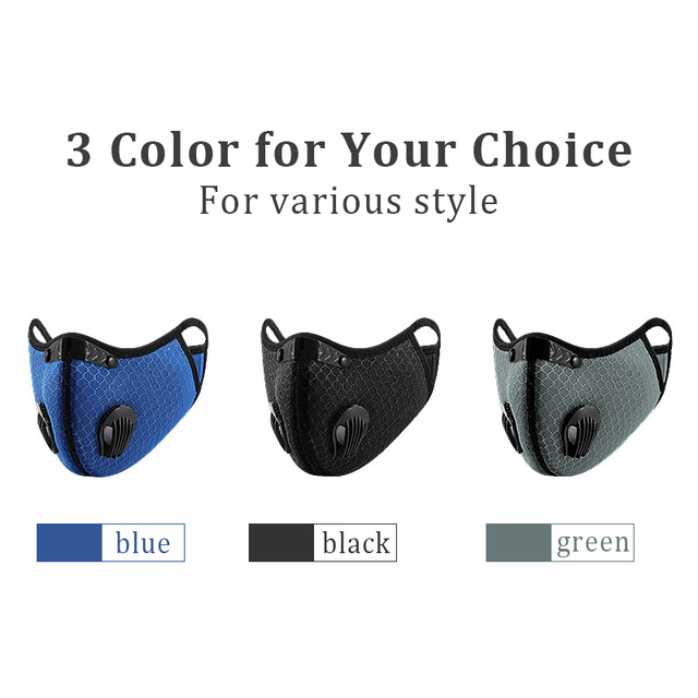 Hango Reusable Face Mask Protective PM2.5 Cycling Tactical Sports Mask with Filter Washable Fabric Masks Men Face Cover Shield 4