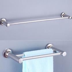 Wall-mounted banheiro longo barra de toalha de aço inoxidável toalha de banheiro único pólo duplo toalheiro banheiro haste de suspensão