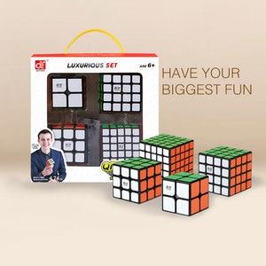 Image 3 - Mofangge 3*3*3 קסם קוביות מהירות מפואר קוביית קוביית סט 4pcs 3*3/4*4/5*5 מקצועי חידות קוביות למידה צעצועים לילדים