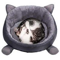 Algodón Gato Cama casa para gatos invierno cálido Gato tapete lindo Gato camas redondas cojín camas para perrera pequeña mascota Gato Cama Gato