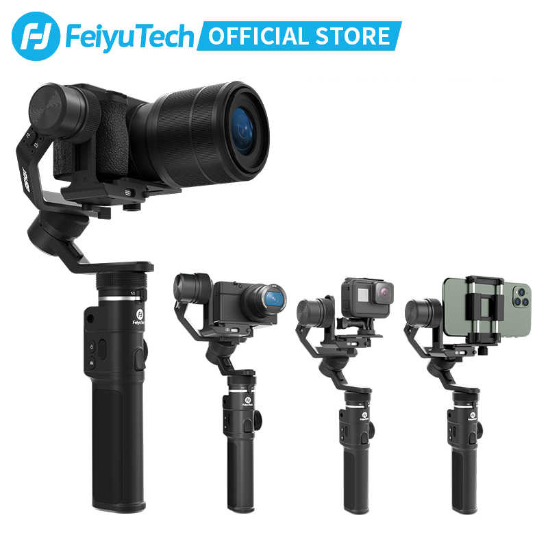 FeiyuTech Feiyu G6 מקסימום 3-ציר כף יד מצלמה Gimbal מייצב למצלמת ראי כיס מצלמה GoPro גיבור 7 6 5 Smartphone