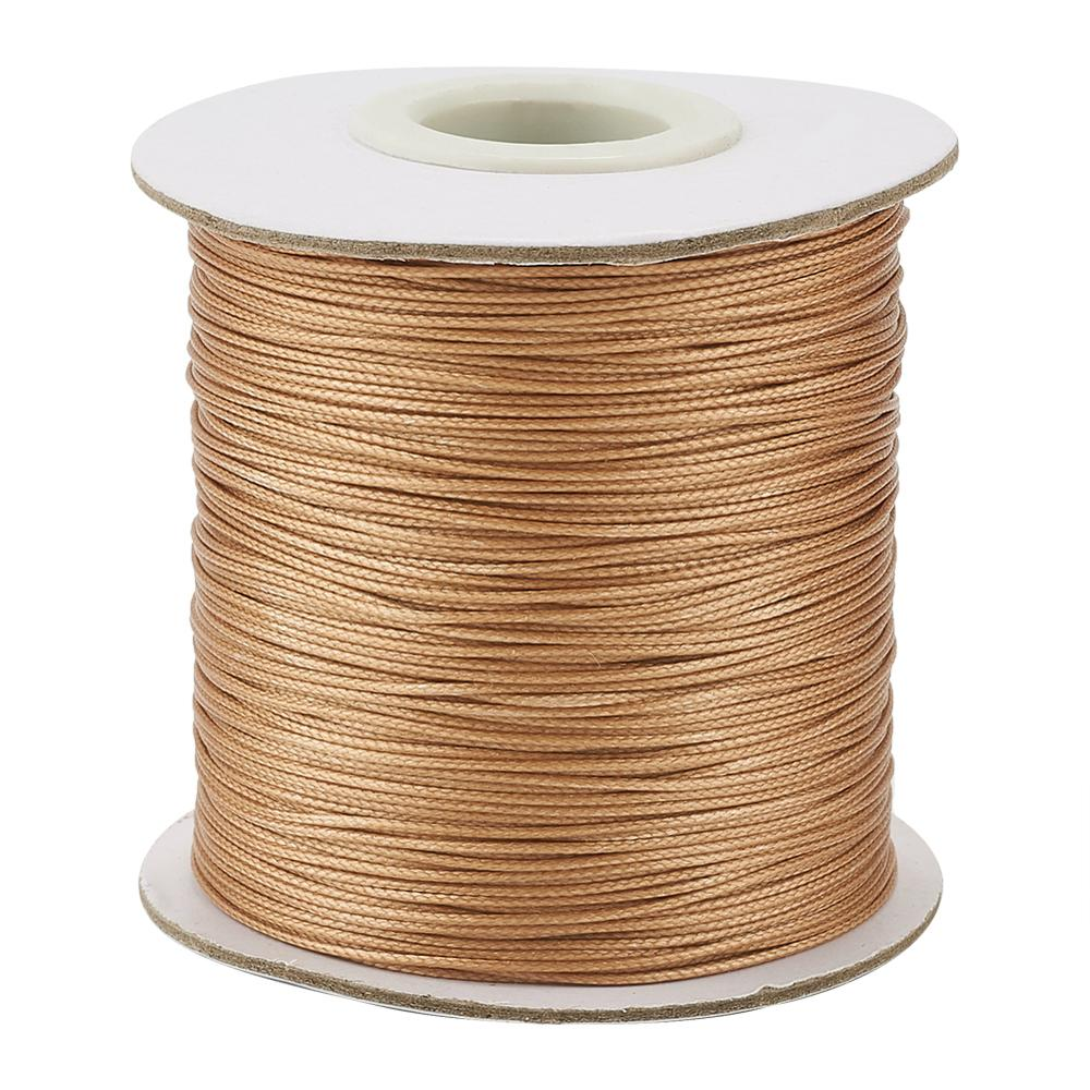 Brown Cord Waxed Polyester 1//1.5//2//3mm Necklace Jewellery Rope String Thread