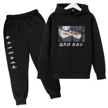 2021 Casual Tracksuit Anime Graphic Pullover Girl Kawaii Harajuku Sweatshirt Suit Unisex Boy Hoodies And Pant 2 Piece Set