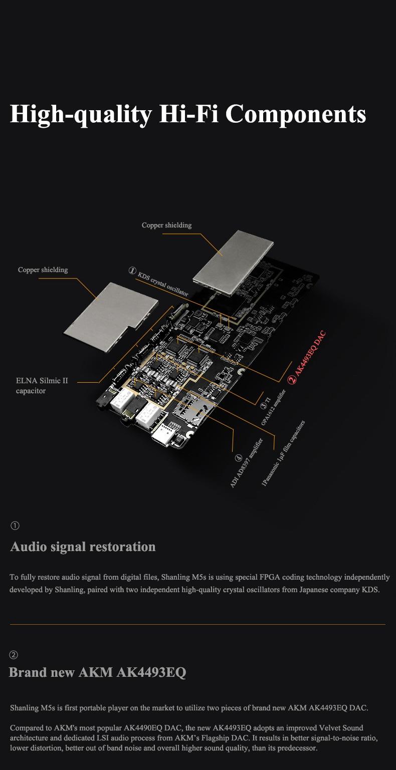ouvido amplificador dsd256 2.5 3.5mm wifi dlna airplay