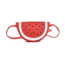 Cute Kids Girls Mini Coin Purse Cross Body Bag Novelty PU Watermelon Shoulder Bags For Baby Girl Messenger Bag Handbag Wallet