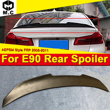 For BMW E90 AEPSM Style FRP Unpainted Trunk Spoiler Wing 3 Series 318i 320i 323i 325i 328i 335i Add on Look Rear Lip Wings 05-11