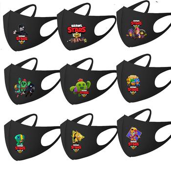Dzieci maski dla dorosłych Brawls Stars usta maska Anime gra drukuj Spike Leon wrona maski na twarz pyłoszczelne maski na twarz Cosplay bawełniane maski tanie i dobre opinie BRAWL STARS CN (pochodzenie)