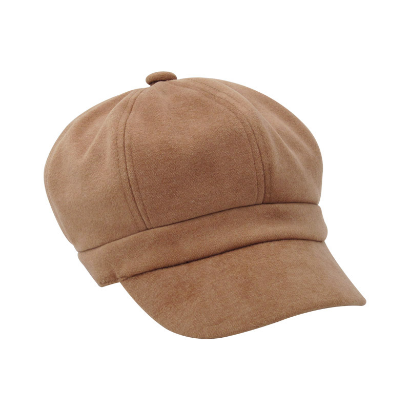 2019 Ladies Hat Spring And Autumn Retro Color Imitation Suede High Quality Comfortable Street Star Hat Classic Fashion Sun Hats in Women 39 s Baseball Caps from Apparel Accessories