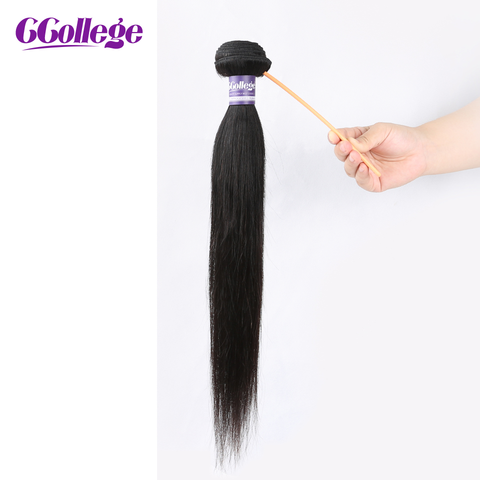 "CCollege Peruvian Straight Human Hair Bundles Deal Natural Color 8""-26"" 1 Piece Non Remy Weaving Hair Extensions"